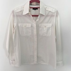 Burberry Button Down Collared Shirt